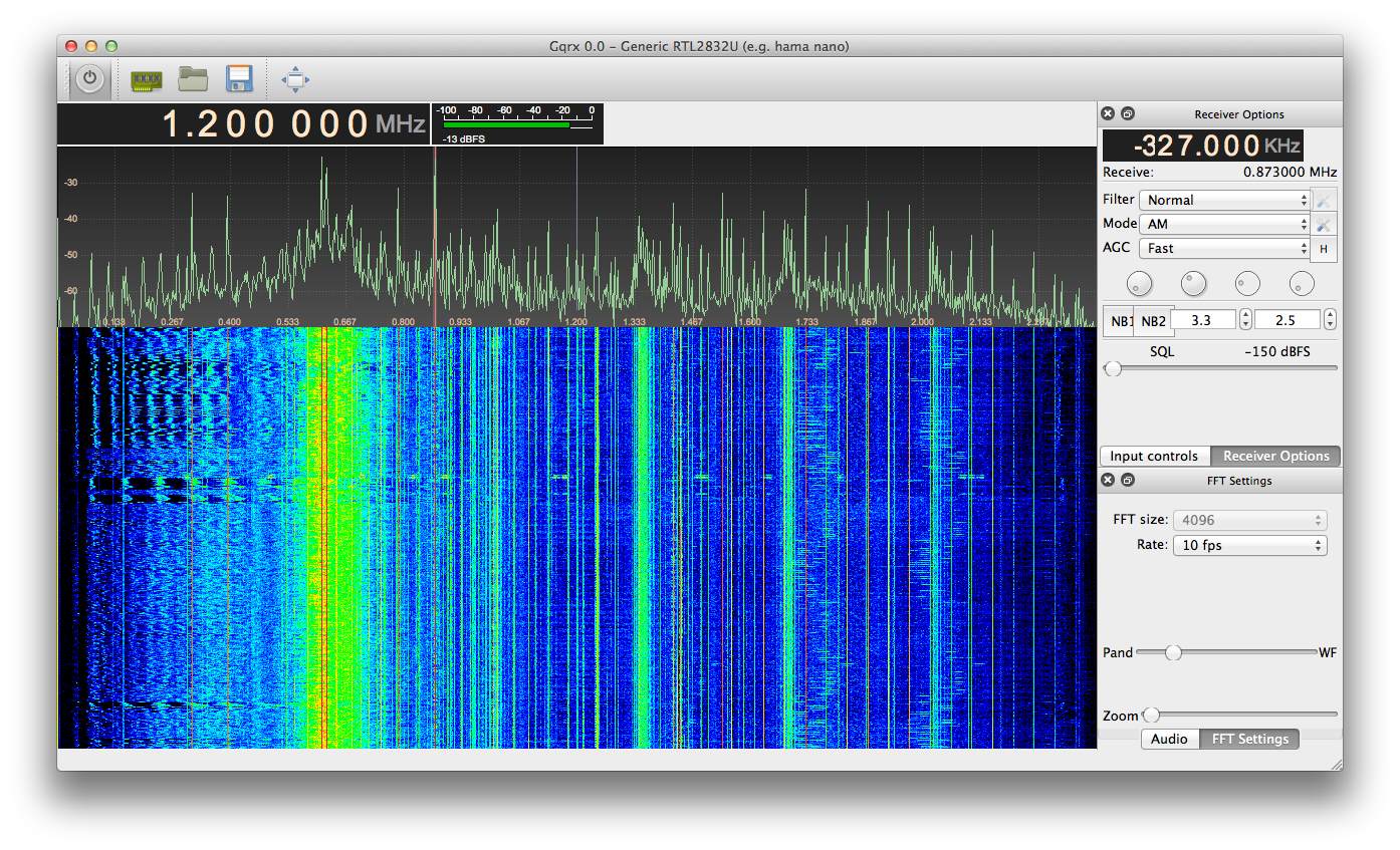 OS X port of the awesome gqrx SDR software [Update 07/01